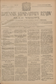 Dziennik Komisarjatu Rządu na M. St. Warszawę.R.4, № 191 (27 sierpnia 1923) = № 815