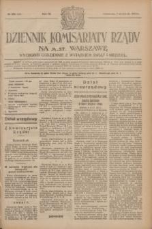 Dziennik Komisarjatu Rządu na M. St. Warszawę.R.4, № 201 (7 września 1923) = № 825
