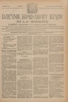 Dziennik Komisarjatu Rządu na M. St. Warszawę.R.4, № 206 (14 września 1923) = № 830