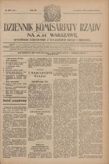 Dziennik Komisarjatu Rządu na M. St. Warszawę.R.4, № 207 (15 września 1923) = № 831