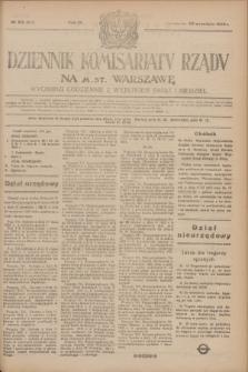 Dziennik Komisarjatu Rządu na M. St. Warszawę.R.4, № 213 (22 września 1923) = № 837
