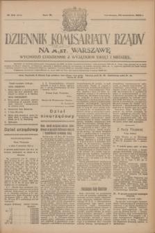 Dziennik Komisarjatu Rządu na M. St. Warszawę.R.4, № 218 (28 września 1923) = № 842