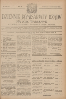 Dziennik Komisarjatu Rządu na M. St. Warszawę.R.4, № 220 (1 października 1923) = № 844
