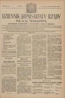 Dziennik Komisarjatu Rządu na M. St. Warszawę.R.4, № 224 (5 października 1923) = № 848