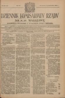 Dziennik Komisarjatu Rządu na M. St. Warszawę.R.4, № 225 (6 października 1923) = № 849