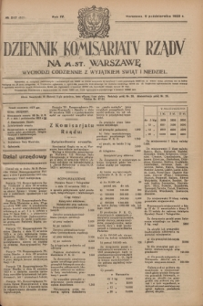Dziennik Komisarjatu Rządu na M. St. Warszawę.R.4, № 227 (9 października 1923) = № 851