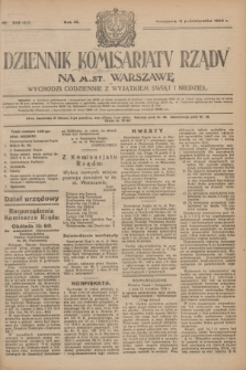 Dziennik Komisarjatu Rządu na M. St. Warszawę.R.4, № 229 (11 października 1923) = № 853
