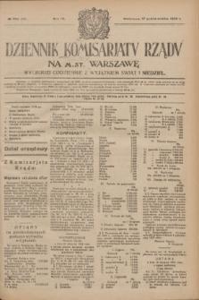 Dziennik Komisarjatu Rządu na M. St. Warszawę.R.4, № 234 (17 października 1923) = № 858