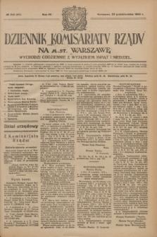 Dziennik Komisarjatu Rządu na M. St. Warszawę.R.4, № 241 (25 października 1923) = № 865