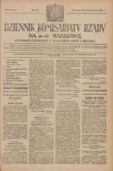 Dziennik Komisarjatu Rządu na M. St. Warszawę.R.4, № 243 (27 października 1923) = № 867