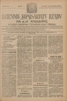 Dziennik Komisarjatu Rządu na M. St. Warszawę.R.4, № 246 (31 października 1923) = № 870