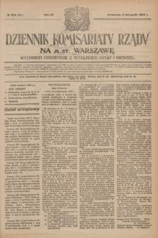Dziennik Komisarjatu Rządu na M. St. Warszawę.R.4, № 248 (3 listopada 1923) = № 872