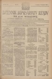 Dziennik Komisarjatu Rządu na M. St. Warszawę.R.4, № 251 (7 listopada 1923) = № 875