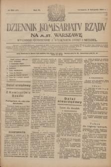 Dziennik Komisarjatu Rządu na M. St. Warszawę.R.4, № 252 (8 listopada 1923) = № 876