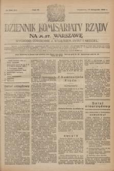 Dziennik Komisarjatu Rządu na M. St. Warszawę.R.4, № 254 (10 listopada 1923) = № 878