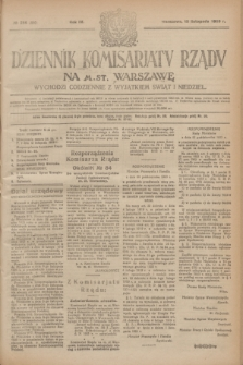Dziennik Komisarjatu Rządu na M. St. Warszawę.R.4, № 256 (13 listopada 1923) = № 880