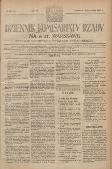 Dziennik Komisarjatu Rządu na M. St. Warszawę.R.4, № 257 (14 listopada 1923) = № 881
