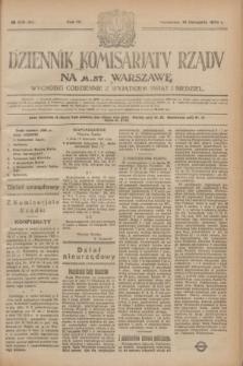 Dziennik Komisarjatu Rządu na M. St. Warszawę.R.4, № 259 (16 listopada 1923) = № 883