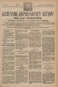 Dziennik Komisarjatu Rządu na M. St. Warszawę.R.4, № 260 (17 listopada 1923) = № 884