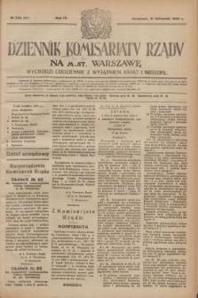 Dziennik Komisarjatu Rządu na M. St. Warszawę.R.4, № 263 (21 listopada 1923) = № 887