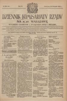 Dziennik Komisarjatu Rządu na M. St. Warszawę.R.4, № 265 (23 listopada 1923) = № 889
