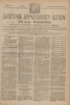 Dziennik Komisarjatu Rządu na M. St. Warszawę.R.4, № 269 (28 listopada 1923) = № 893