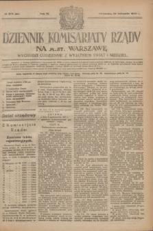 Dziennik Komisarjatu Rządu na M. St. Warszawę.R.4, № 270 (29 listopada 1923) = № 894