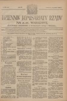 Dziennik Komisarjatu Rządu na M. St. Warszawę.R.4, № 273 (3 grudnia 1923) = № 897