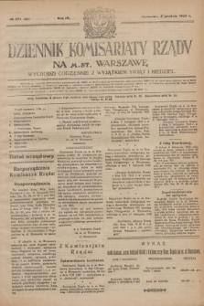 Dziennik Komisarjatu Rządu na M. St. Warszawę.R.4, № 274 (4 grudnia 1923) = № 898