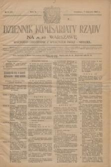 Dziennik Komisarjatu Rządu na M. St. Warszawę.R.5, № 5 (7 stycznia 1924) = № 922