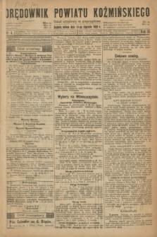 Orędownik Powiatu Koźmińskiego. R.35, nr 4 (14 stycznia 1922)
