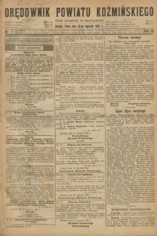 Orędownik Powiatu Koźmińskiego. R.35, nr 7 (25 stycznia 1922)
