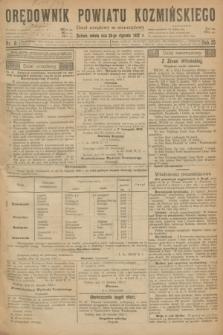 Orędownik Powiatu Koźmińskiego. R.35, nr 8 (28 stycznia 1922)