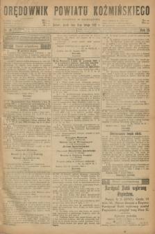 Orędownik Powiatu Koźmińskiego. R.35, nr 11 (8 lutego 1922)