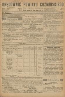 Orędownik Powiatu Koźmińskiego. R.35, nr 16 (25 lutego 1922) + dod.