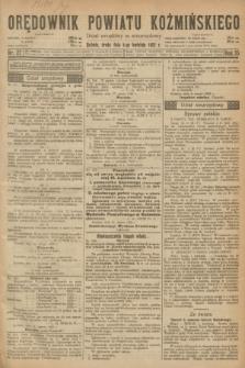 Orędownik Powiatu Koźmińskiego. R.35, nr 27 (5 kwietnia 1922)