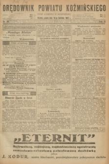 Orędownik Powiatu Koźmińskiego. R.35, nr 30 (15 kwietnia 1922)