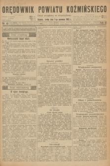 Orędownik Powiatu Koźmińskiego. R.35, nr 45 (7 czerwca 1922)