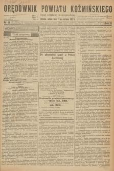 Orędownik Powiatu Koźmińskiego. R.35, nr 48 (17 czerwca 1922) + dod.