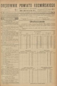Orędownik Powiatu Koźmińskiego. R.35, nr 54 (8 lipca 1922) + dod.