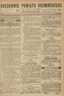 Orędownik Powiatu Koźmińskiego. R.35, nr 55 (12 lipca 1922)