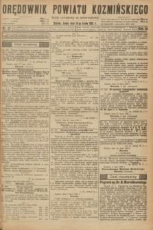 Orędownik Powiatu Koźmińskiego. R.35, nr 57 (19 lipca 1922)