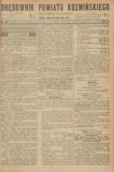 Orędownik Powiatu Koźmińskiego. R.35, nr 60 (29 lipca 1922)