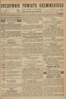 Orędownik Powiatu Koźmińskiego. R.35, nr 67 (23 sierpnia 1922)