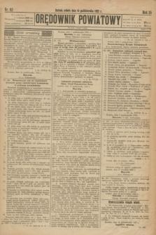 Orędownik Powiatowy. R.35, nr 82 (14 października 1922)