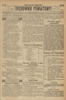 Orędownik Powiatowy. R.35, nr 90 (11 listopada 1922)