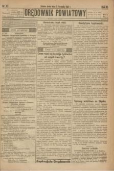 Orędownik Powiatowy. R.35, nr 93 (21 listopada 1922)
