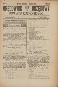 Orędownik Urzędowy Powiatu Koźmińskiego. R.36, nr 28 (7 kwietnia 1923)