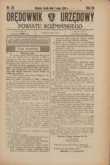 Orędownik Urzędowy Powiatu Koźmińskiego. R.36, nr 35 (2 maja 1923)