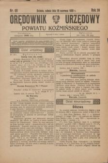Orędownik Urzędowy Powiatu Koźmińskiego. R.36, nr 48 (16 czerwca 1923)